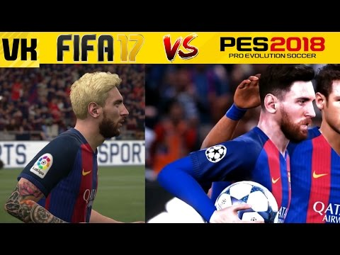 PES 2018 vs FIFA 17 Comparison: Player Faces, Tattoos and Body (PES 18 vs FIFA 17)
