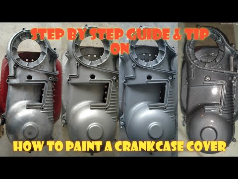 DIY Crankcase Cover Paint to Gun Metal | 10092020 | Papa Benj Motovlog
