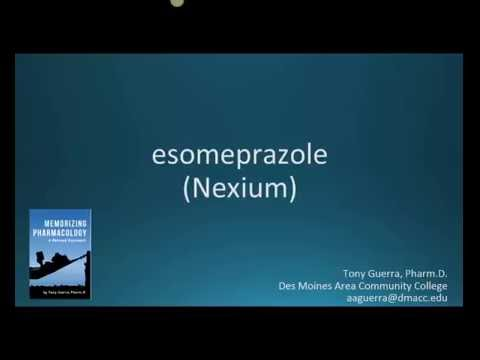 How to pronounce esomeprazole (Nexium) (Memorizing Pharmacology Flashcard)