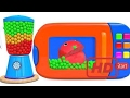 Best  Learn Colors with Gumball Microwave and Blender Pacman For Kids| BinBin COLORS