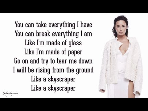 Skyscraper - Demi Lovato (Lyrics) 🎵
