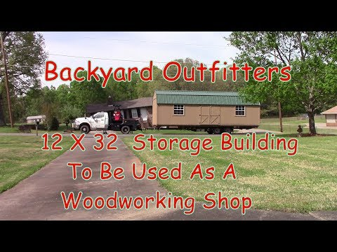 Backyard Outfitters 12 X 32 Storage Building Delivery And Setup