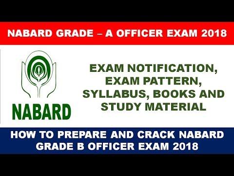 NABARD GRADE 'A' OFFICER EXAM 2018 - NOTIFICATION | SYLLABUS | BOOKS