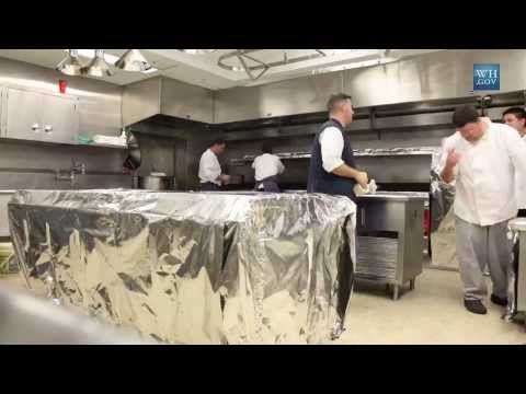 White House - Watch the kitchen at the White House undergo a transformation into a kosher kitchen. This entails wrapping existing kitchen surfaces and a complete separatio...