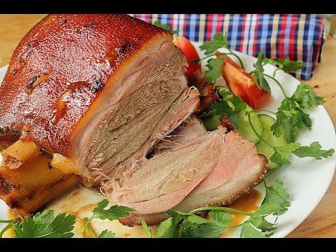 рецепт приготовления свиной рульки в духовке фото