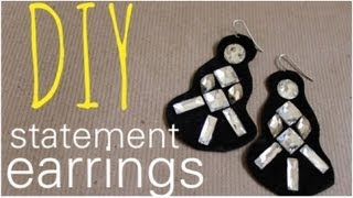 DIY Crystal Statement Earrings - MY FAVORITE PROJECT - YouTube