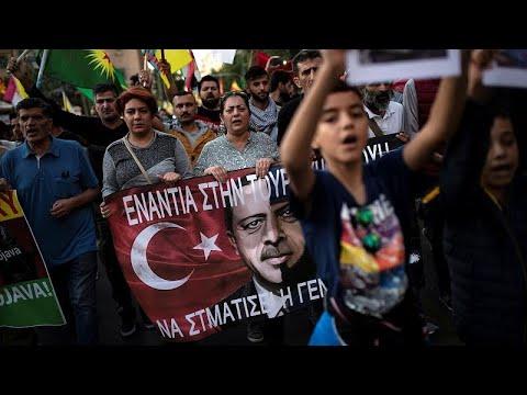 Ξεσηκωμός των Κούρδων κατά της τουρκικής επέμβασης στη Συρία…