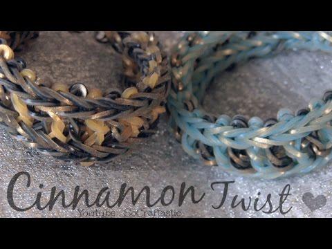 *NEW* RAINBOW LOOM : Cinnamon Twist Bracelet – How to – Original Design // SoCraftastic