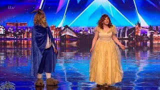 Video Britain's Got Talent 2018 Katherine & Joe Beauty and the Beast Full Audition S12E05 MP3, 3GP, MP4, WEBM, AVI, FLV Mei 2018