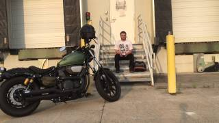 8. 2014 Yamaha Bolt Vance and Hines twin slash exhaust sound and review