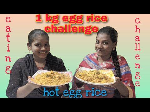 Eggrice  challenge  extrme spicy food challenge   eating challenge Telugu