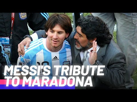 Lionel Messi's moving tribute to Diego Maradona   Oh My Goal