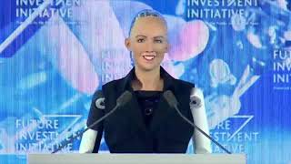 Video Robot Sophia speaks at Saudi Arabia's Future Investment Initiative MP3, 3GP, MP4, WEBM, AVI, FLV Oktober 2018