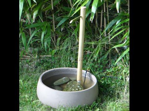 Fontaine d'intérieur en bambou 1ère partie - Réalisation du corps