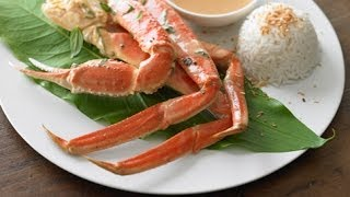 Coconut-Red Curry Roasted Alaska Snow Crab Legs (Thailand)