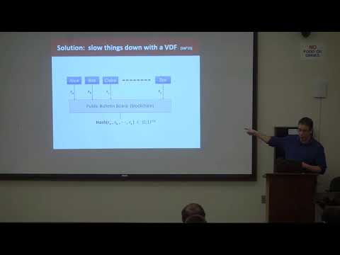 Verifiable Delay Functions - Dan Boneh video