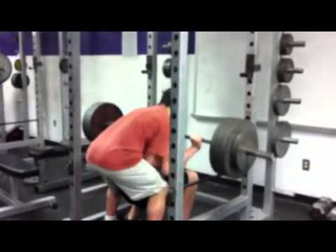 Squat 365 for 10 reps Senior year