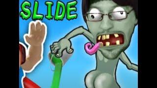 HIT THE BUTT 💩 ROBLOX Dr. Zomboss Slime Slide Challenge! FGTEEV Boys play PVZ Zombies Ripoff #24