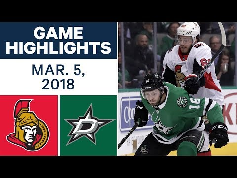 Video: NHL Game Highlights | Senators vs. Stars - Mar. 05, 2018