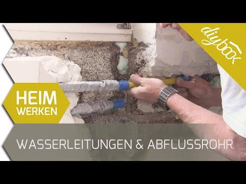 Wasserleitungen und Abflussrohr verlegen - 2D