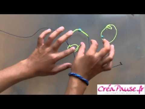 comment faire un shamballa - http://creapause.fr/229-fils-nylon-et-fils-de-couleur Vous aussi faites vos bracelets Shamballa avec les fils et perles à shamaballa en ventre sur votre site...