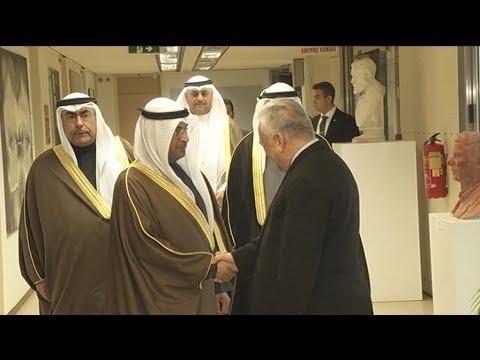 Με τον υπουργό Οικονομικών του Κουβέιτ,  ο Γιάννης Δραγασάκης