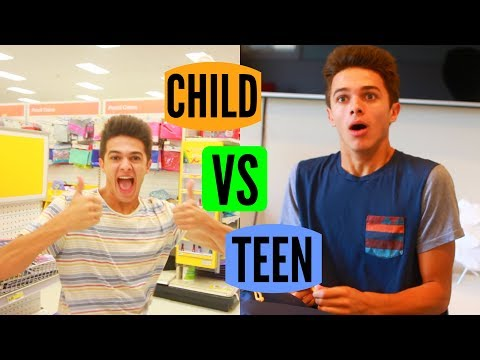 CHILD VS TEEN: Back to School! | Brent Rivera