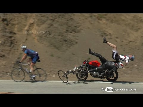 4 - Rider hits cyclists coming out of a turn on Mulholland Hwy. Cyclists didn't appear to have serious injuries. Note about cyclists and riders co-existing on th...