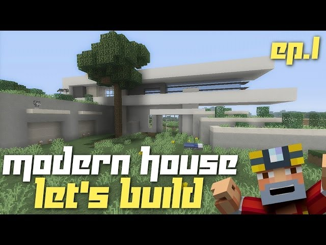 Minecraft xbox 360 lets build a modern house part 1 for Tuto maison moderne minecraft xbox 360