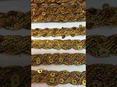 Passamanaria Trançada Cobre Amarelo Verde 06mm