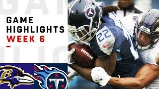 Ravens vs. Titans Week 6 Highlights   NFL 2018