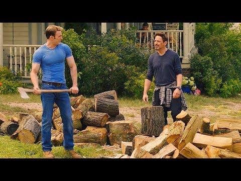 Tony Stark & Steve Rogers Chopping Wood Scene - Avengers: Age of Ultron (2015) Movie CLIP HD