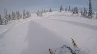 4. Riding a skidoo 550 fan