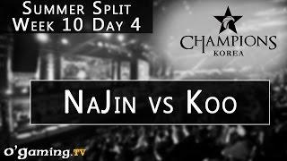 NaJin e-mFire vs Koo Tigers - LCK Summer Split - Week 10 - Day 4 - NaJin vs Koo [FR]