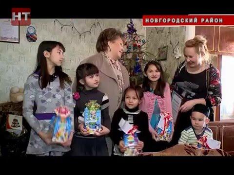 Елена Писарева поздравила с наступающими праздниками многодетную семью