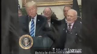 385 - Buzz Aldrin Making Faces - Donald Trump Hints Deep Space is a Hoax - Joke