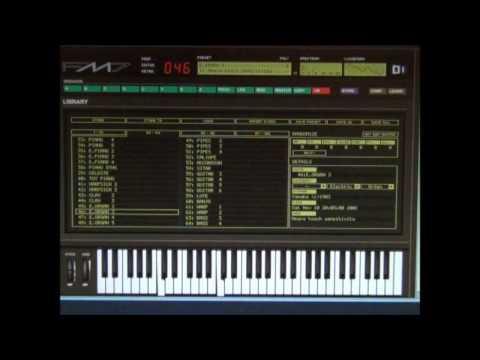 Yamaha DX 7 Emulation - FM7 - All 127 Voices in 43 minutes ! Original sound bank Software Demo