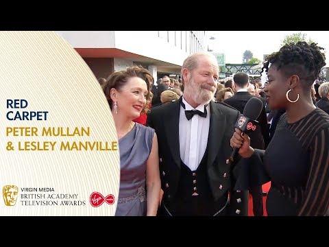 Peter Mullan & Lesley Manville Talk About Mum | BAFTA TV Awards 2019