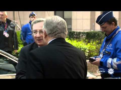 EU Council Arrivals: Leterme on Libya, Juncker not convinced ESM solution is credible