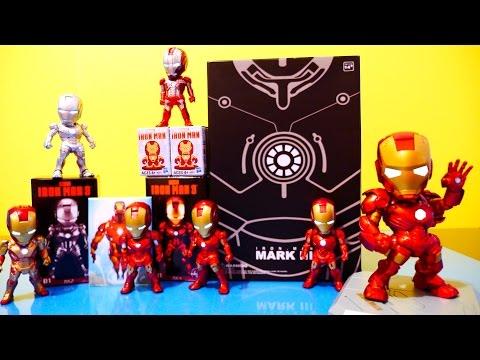 iron man - Iron Man 3 Set Of 6 Light Up Sci Fi Series Figures + Larger Iron Man 3 Light Up Figure + Iron Man Micro Mugs Surprise Blind Box !!!! Visit Disney Cars Toy Cl...