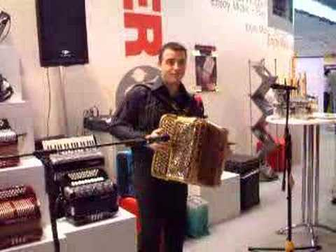 Hohner Button accordion on the Musik Messe 2005 Frankfurt