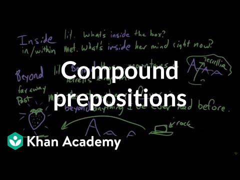 Compound Prepositions Video Khan Academy