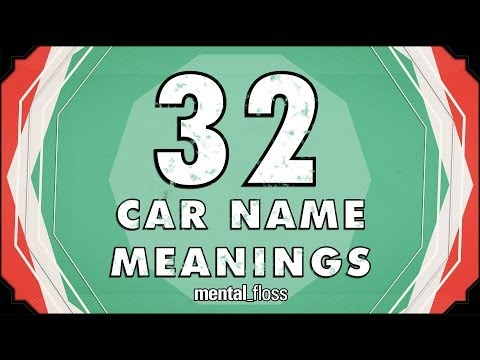 32 Car Name Meanings