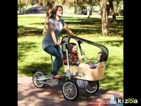 Необычные коляски для двойни и тройни