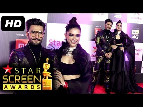 Simmba Boy 😎Ranveer With Wife Deepika😍 At Star Screen Awards 2018 | Red Carpet #Deepveer