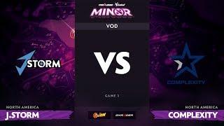 [RU] J.Storm vs compLexity, Game 1, StarLadder ImbaTV Dota 2 Minor S2 NA Qualifiers