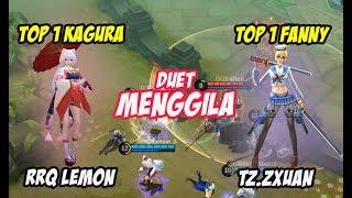 Download Video Duet Menggila tz zxuan top 1 global Fanny dan RRQ Lemon Top 1 Global Kagura Mobile Legends MP3 3GP MP4