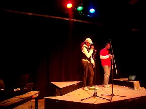 Dominique Performing For An Open Mic Event At OCC