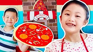 Video Biggest Pizza Delivery Boxfort Restaurant Challenge MP3, 3GP, MP4, WEBM, AVI, FLV September 2018