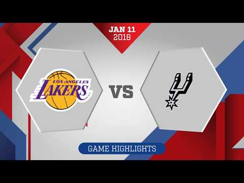 San Antonio Spurs vs. Los Angeles Lakers - January 11, 2018